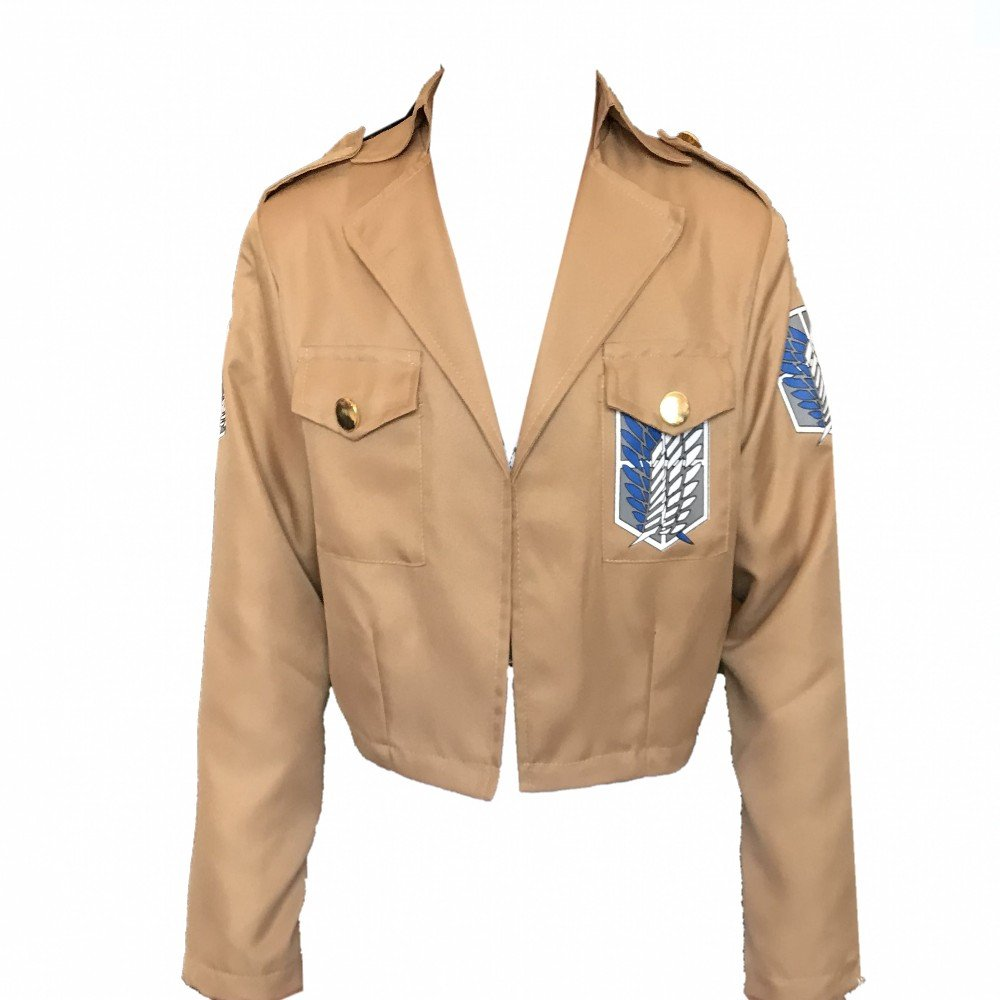 Cosplay Jacket Attack On Titan, Scouting Legion Coat Corps Uniform for Eren Mikasa Cosplay by Nanka Costume