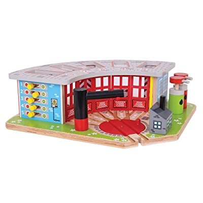 Bigjigs Rail Wooden Five Way Engine Shed - Other Major Rail Brands are Compatible: Toys & Games