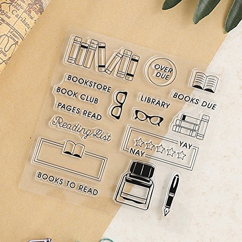 GIMITSUI Store Clear Silicone Stamp (Book and Ink)
