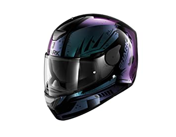 Shark D-SKWAL DHARKOV KVX Casco para moto, talla S, color negro/