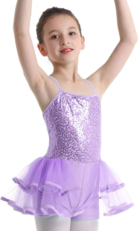 Freebily Girls Kids Sleeveless Ballet Dance Gymnastic Leotard Dress Dancewear Dancing Costume