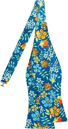 Liberty Mens /'Edenham/' Royal Blue Floral Pocket Square 100/% Cotton