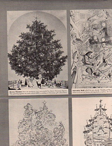 - Christmas Trees by famous artists original clipping magazine photo 2pg 9x12 #Q6628