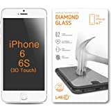 "iPhone 6 screen protector, LABC iPhone 6 Tempered Glass, iPhone 6 HD Tempered Diamond Glass Technology NEWEST 0.2mm thinner thickness Protection Screen Protector by LABC - 4.7"" Inch Screen - Premium Ballistic Nano Anti Scratch / Scratch Free Ultra Slim Tech Armor for Apple iPhone 6 4.7"" - iPhone 6 screen protector (LABC-305)"