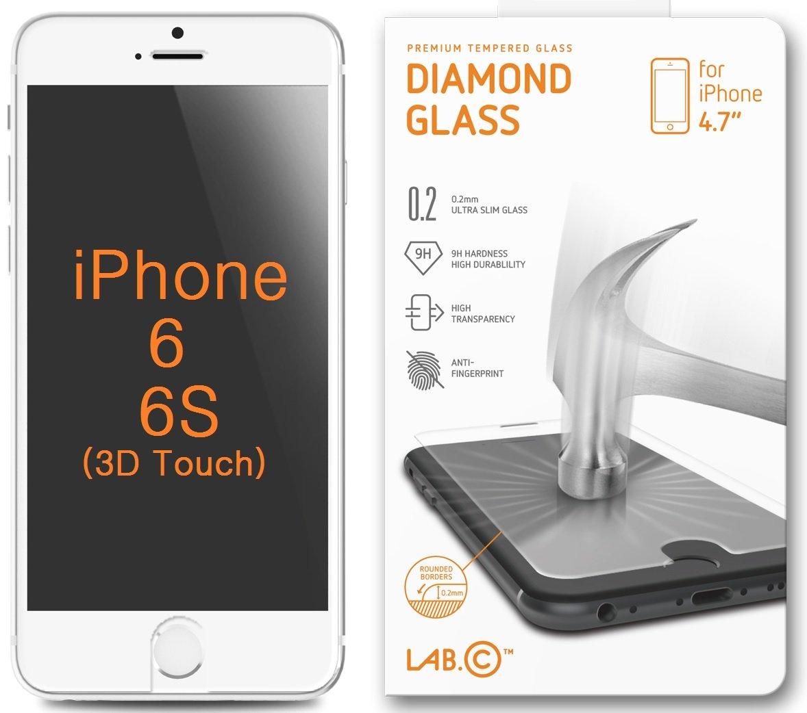 Amazon.com: LABC, iPhone 6 Screen Protector, Tempered Glass ...