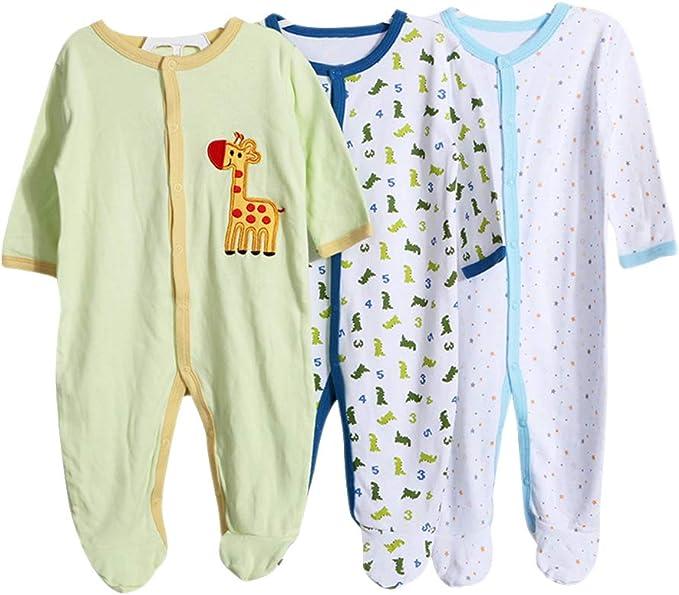 Langarm//Kurzarm///Ärmellos Wickelbody aus Baumwolle im 3er und 5er Pack ZEVONDA Baby M/ädchen und Jungen Body
