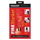Infapower INFA-X012 1m Wall Mountable Glass Fibre Fire Blanket with 10-Year Warranty