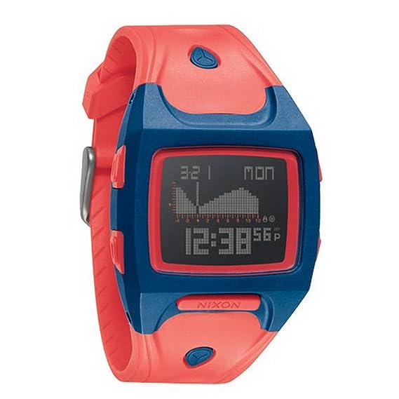 Nixon A498685-00 - Reloj digital de cuarzo para mujer con correa de plástico, color rojo: Amazon.es: Relojes