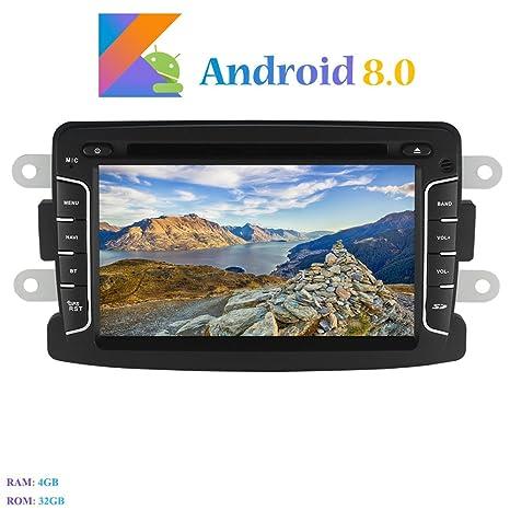 """Android 8.0 Autoradio, Hi-azul 1 DIN 7"""" Radio de Coche 8-"""