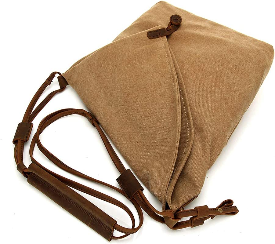 6 Colors Optional ForHe Vintage Canvas Crossbody Bag for Women and Men Messenger Purse Shoulder Bag
