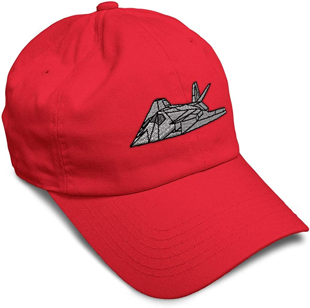 Custom Soft Baseball Cap F-117A Stealth Fighter B Embroidery Twill Cotton