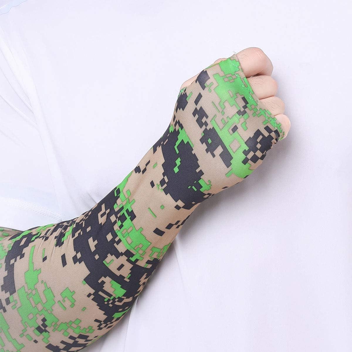 Naviurway Face Scarf Arm Sleeves Cover Bandana Neck Gaiter Balaclava Headbands Camouflage Green