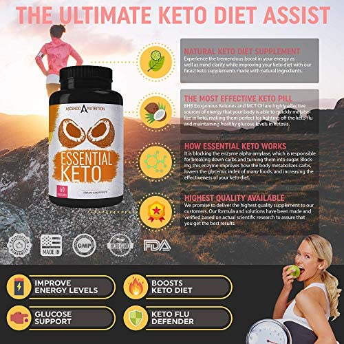 Keto Pills - Ultra Fast Keto Boost Supplement and Ketogenic Accelerator with Coconut MCT Oil, BHB Exogenous Ketones, and 7-Keto DHEA - Best Keto Diet Pill for Women and Men - 60 Capsules 2