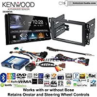 Volunteer Audio Kenwood DDX9904S Double Din Radio Install Kit with Apple CarPlay Android Auto Bluetooth Fits 2007-2013 Chevrolet Silverado, Avalanche, 2008-2013 Express