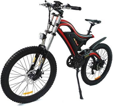 Bicicleta eléctrica Addmotor Hithot, 500 W, 48 V, Doble suspensión, 2019 H5, Bicicleta eléctrica de montaña, con Rueda Shimano de 26 Pulgadas para Adultos: Amazon.es: Deportes y aire libre