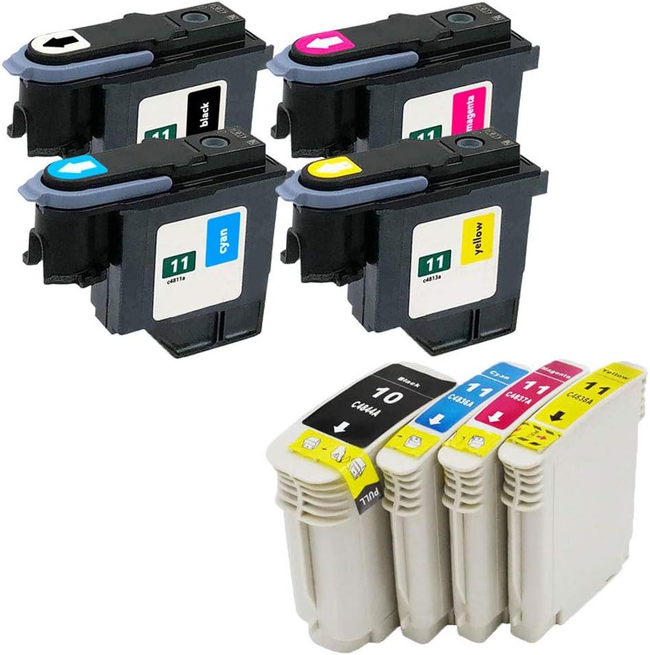 Ouguan - Cabezal de impresión Compatible con HP 11 C4810A C4811A ...