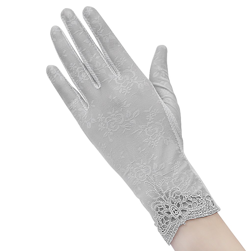 Lady Women Touch Screen Phone Texting Cotton Lace Driving Dressup Gloves MioCloth