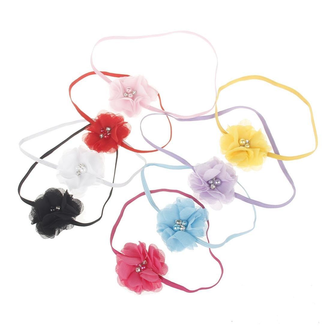 Huhu833 Kinder M/ädchen Baby Kleinkind Blume Stirnband Haarband Baby M/ädchen Zubeh/ör Headwear f/ür Kleinkinder
