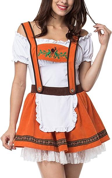 CLOOM Sexy Falda con Correas Halloween Cosplay Vestido Oktoberfest ...