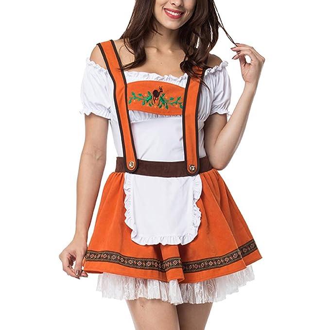 3PCS Disfraz de Bavara Halloween Mujer Sirvienta Cosplay Vestido ...