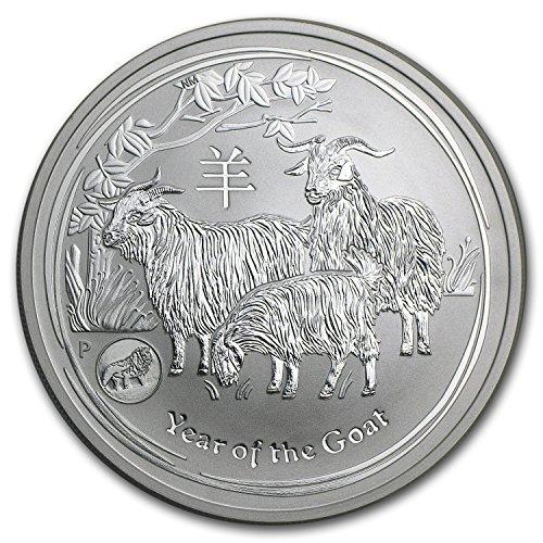 2015 AU Australia 1 oz Silver Lunar Goat (SII, Lion Privy) 1 OZ Brilliant - Online Australia