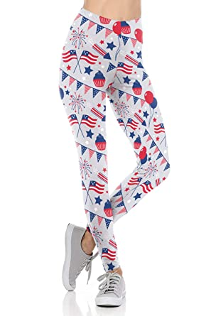 f20bde5db8149d Uaderize Womens Ultra Soft Brushed USA Flag Pants Funny Prints Legging S