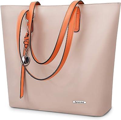 Ladies Handbags Designer Grab Tote Bags Large Size Faux Leather Travel Work