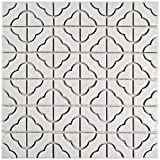 SomerTile FXLPALW Castle Porcelain Floor and Wall Tile, 11.75'' x 11.75'', White