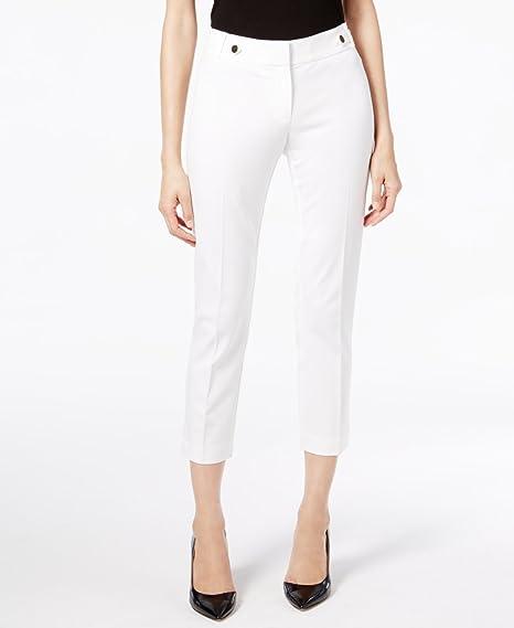 6811760b1908f Alfani Womens White Pants Size  18  Amazon.co.uk  Clothing