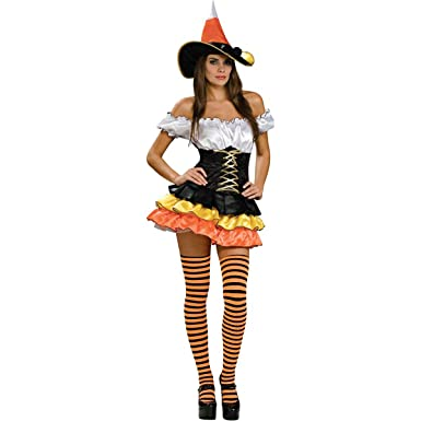 Sexy candy corn witch