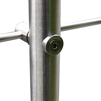 3 Crossbar SAILUN 80cm Stair Handrail Stainless Steel Pre-Assembled Complete Kit Ground Installation for Indoors Outdoors Balcony