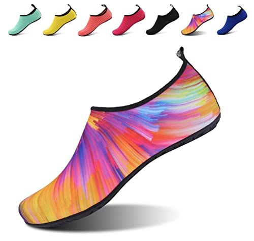 6a0b676f94d958 AoSiFu Barefoot Aqua Skin Water Shoes Socks Surf Pool Yoga Beach Swim  Exercise for Woman Man