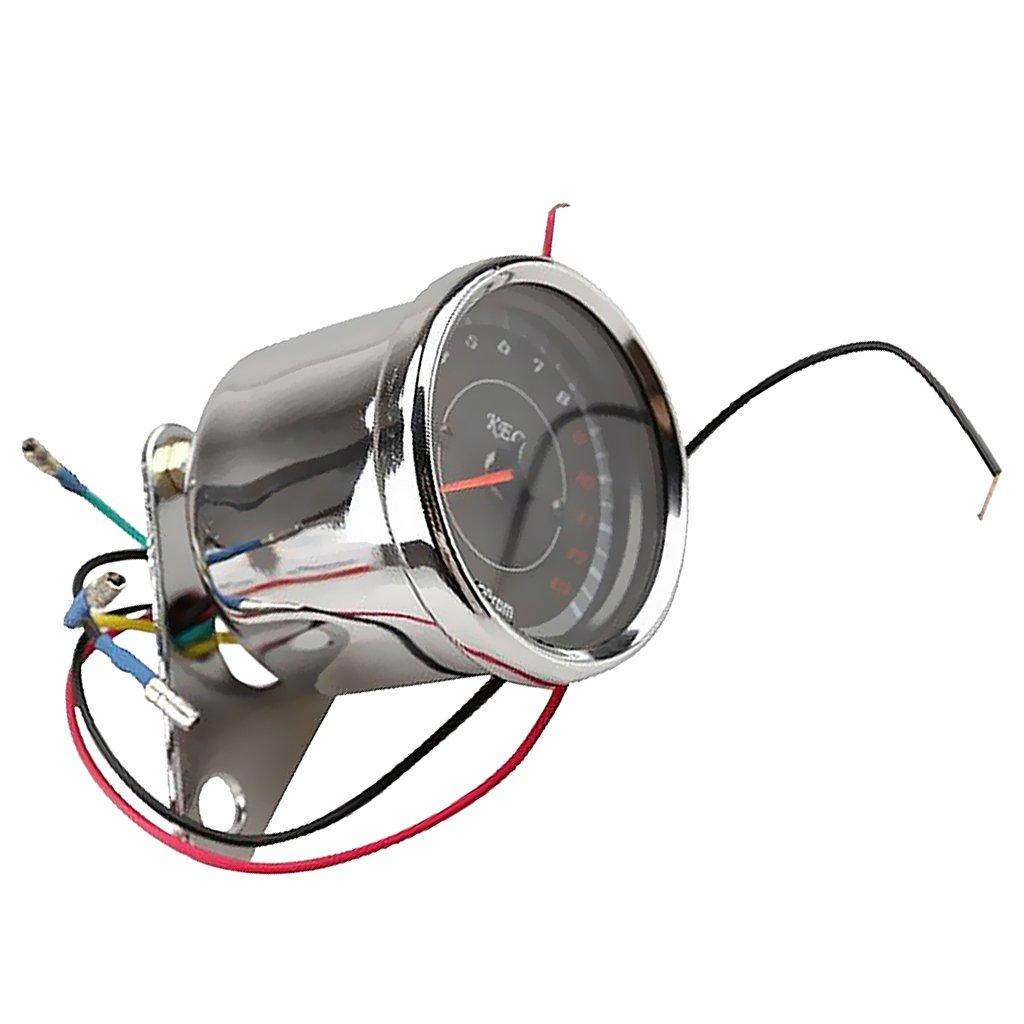 Generic Universal Motorcycle Bike Speedometer Tachometer Odometer Rev Counter with LED Night Light