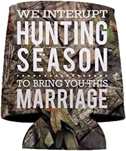 VictoryStore Can Coolers: Custom Redneck Wedding Can Coolers | We Interrupt Hunting Season To Bring You This Marriage (25)