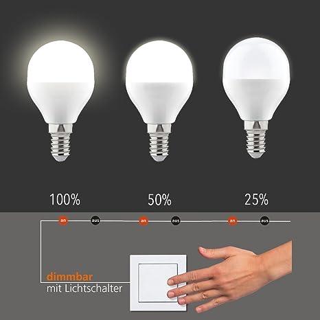 EGLO LM - Bombilla LED (E14, 6 W, plástico), color blanco