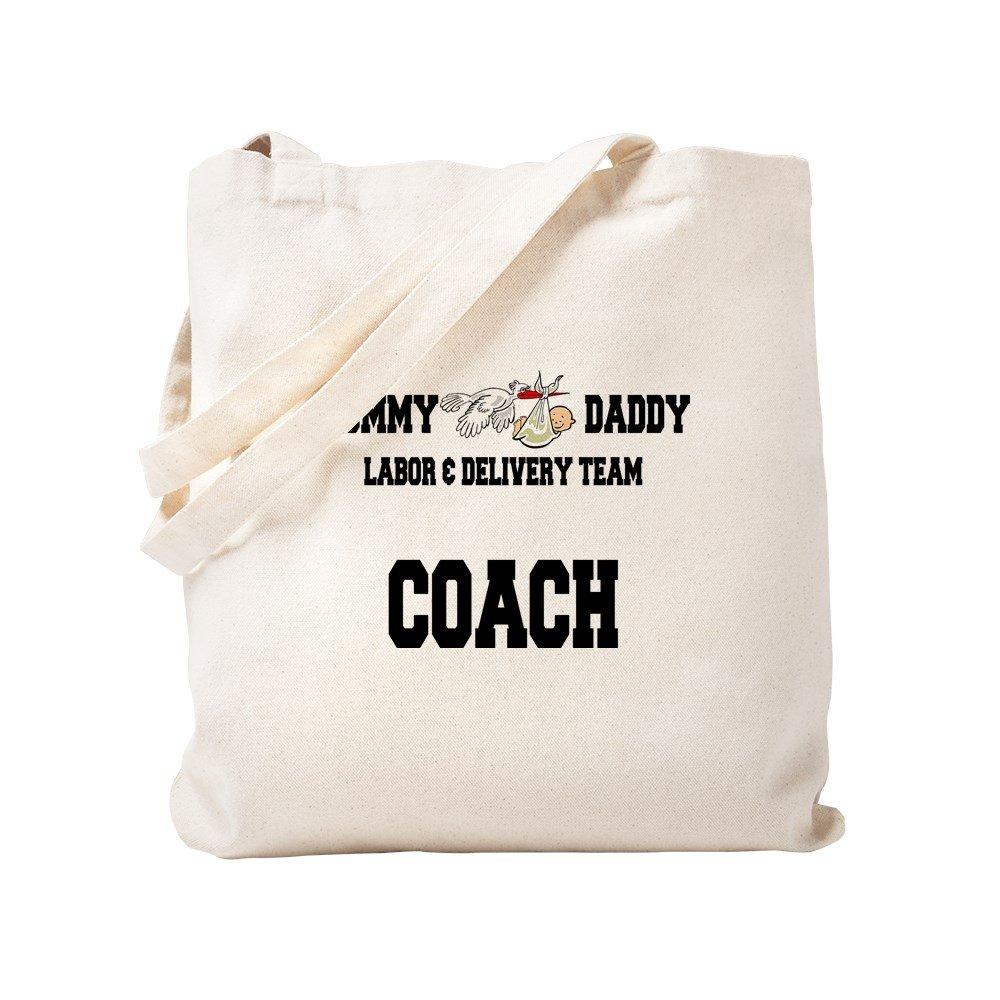 e91f93c5c Amazon.com: CafePress Labor Coach Natural Canvas Tote Bag, Cloth Shopping  Bag: Kitchen & Dining