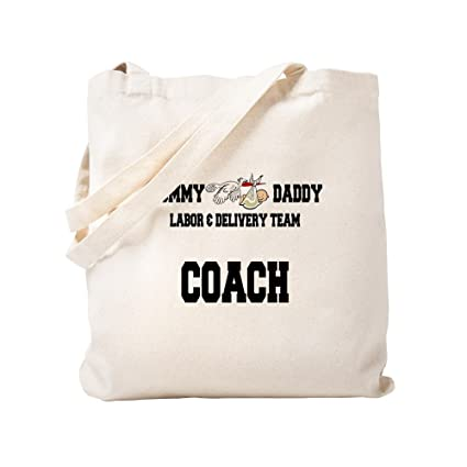 486ab7fa9 Image Unavailable. Image not available for. Color: CafePress Labor Coach  Natural Canvas Tote Bag ...