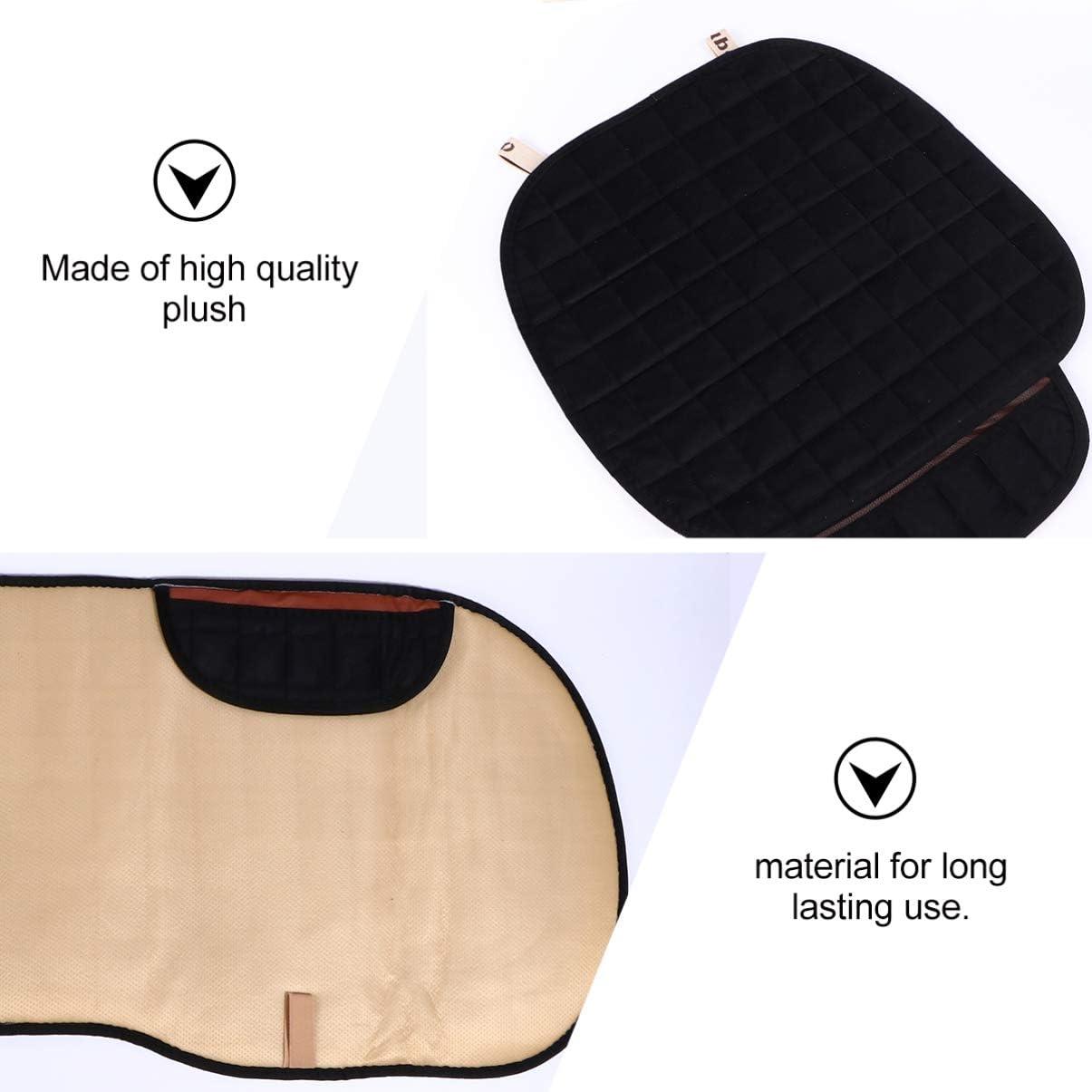 BESPORTBLE Three-Piece Car Seat Cushion Winter Non-Slip Practical Thickening Warm Plush Cushion for Car Office Home Cushion