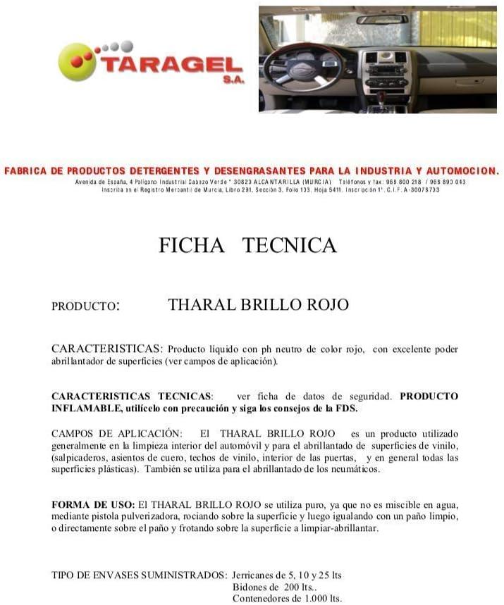 THARAL Brillo Salpicaderos y Neumáticos (5Litros): Amazon.es: Hogar