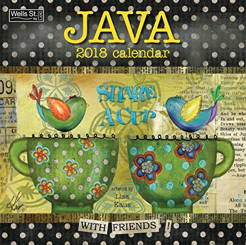 Java 2018 Monthly Wall Calendar 12 x 12 Inches - Includes One Sheet of 240 Reminder Stickers