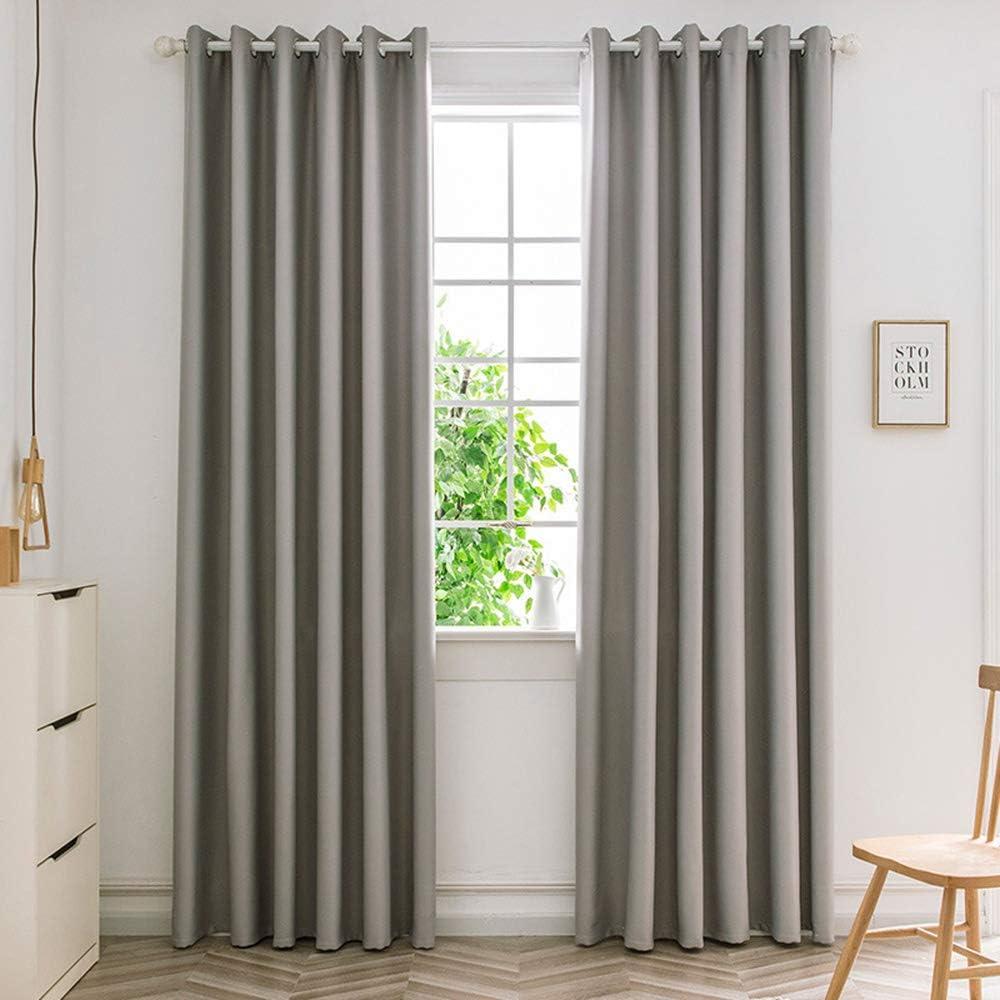 ستائر تعتيم جروميت تعتيم الغرفة ، ستارة عازلة للحرارة لتقليل الضوضاء ، لون نقي ، دقة عالية ، تظليل كامل ، لغرفة المعيشة ، غرفة النوم ، الشرفة,Silver gray,66 * 72 inches
