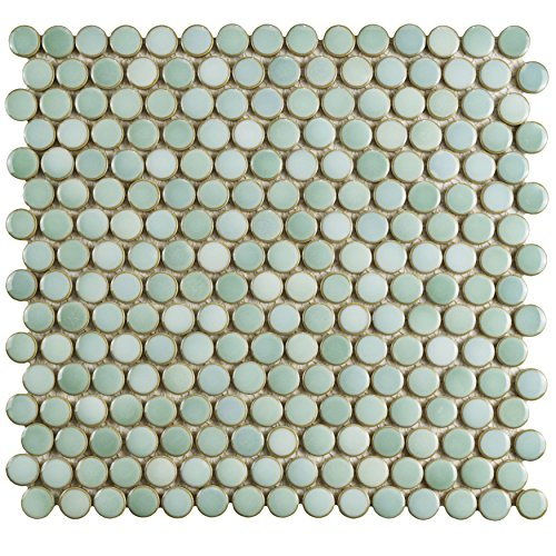 SomerTile FKOMPR32 Penny Porcelain Mosaic Floor & Wall Tile, 12