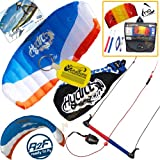 HQ Hydra II 420 V2 Kiteboarding Trainer Kite Bundle : Includes FREE 2ND Kite : Symphony Beach II 1.3M Foil Kite + WindBone Kiteboarding Key Chain : Water Trainer Foil Traction Power Kite