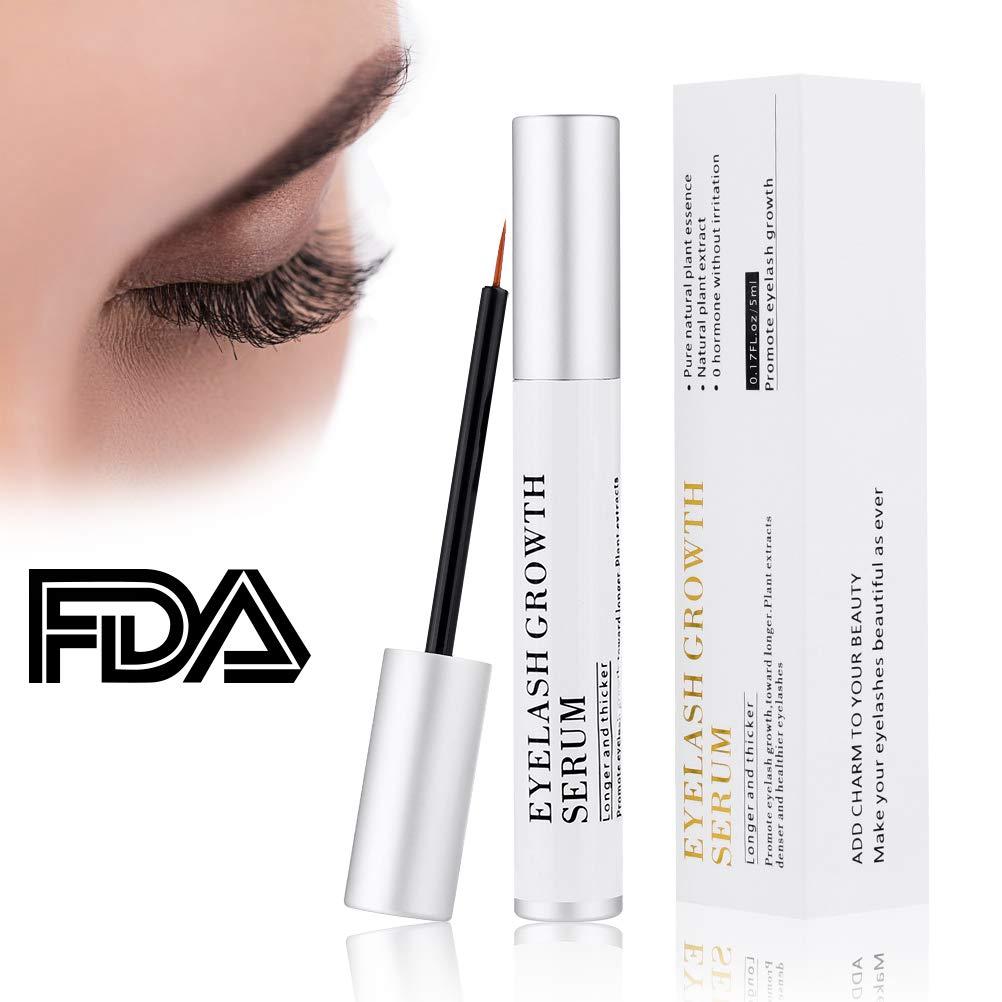 f32786bc8ed Amazon.com: Kndio Eyelash Enhancer Serum, Eyelash Growth Serum Natural  Super Beauty Eyelashes Liquid for Longer, Thicker, Fuller Eyelash 5ml:  Beauty