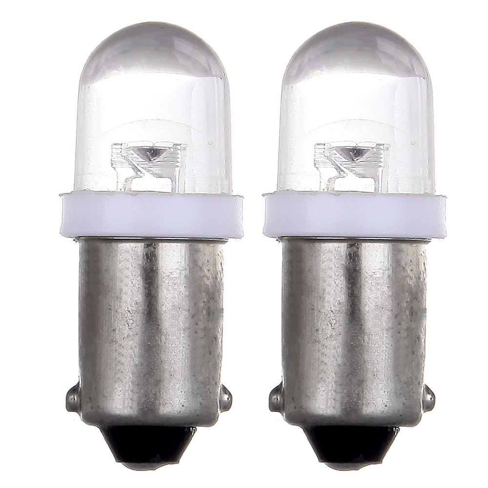 Cciyu 20 Pack Ba9s Xenon White Led Lamp Instrument 1970 Mustang Maplight Wiring Cluster Gauge Dashboard Light Bulbs Speedometer Odometer Map Bayonet 53 53x 57
