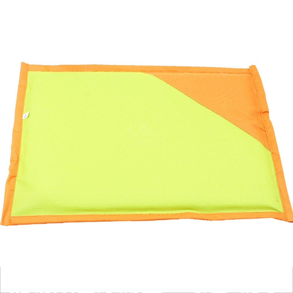 Green 6350cm Green 6350cm Pet Cool mat Pet Cool Pad Dogs Mat Bamboo Double-Sided Breathable Summer Waterproof Mattress Kennel Cats Cooling Pad Sleeping Pad bluee Green orange pet Cool pad (color   Green, Size   6350cm)