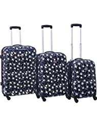 American Flyer Stars 3 Piece Hardside Spinner Luggage Set