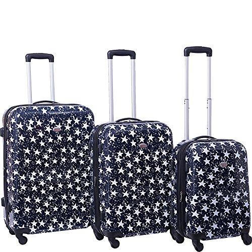 american-flyer-stars-3-piece-hardside-spinner-luggage-set-navy