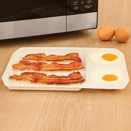 Bandeja para horno de microondas y huevos creativos para bacón o ...