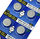 Rayverstar LR44 AG13 1.55 Volt Alkaline Battery, 20 Batteries. Fits: A76, GPA76, L1154F, L1154, 357A, 157, 303, 357, SR44, SR44SW, EPX76, PX76, PX76A, Hexbug Compatible